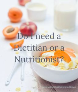 do i need a dietitian or a nutritionist text over food photo