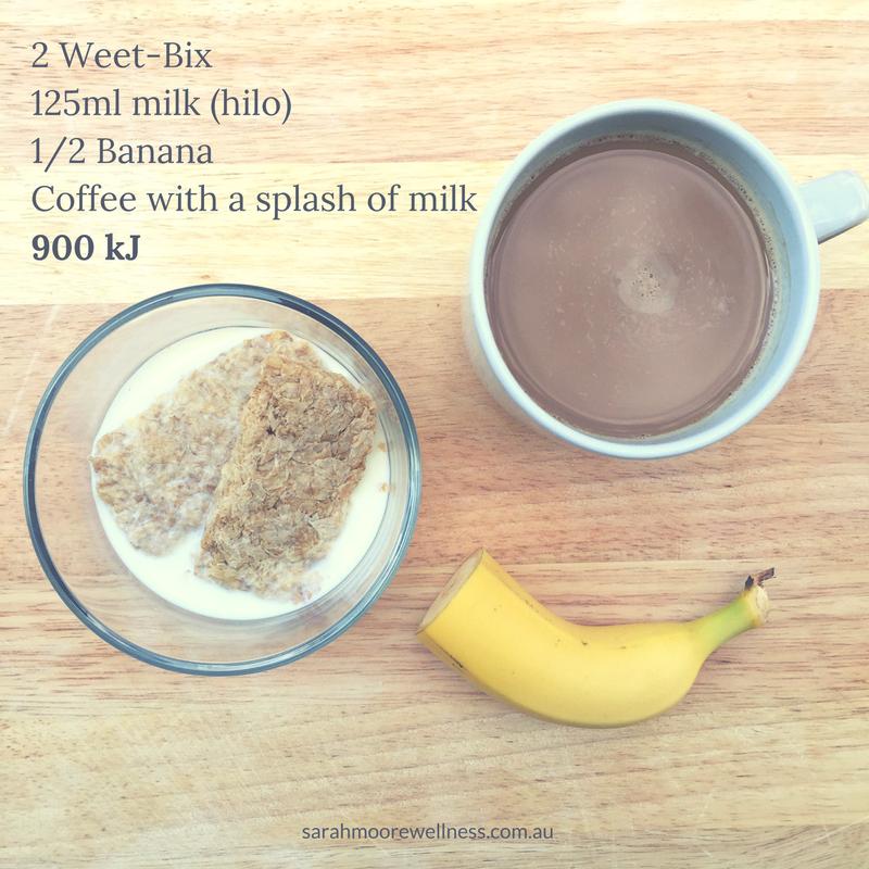 900 kJ 200 calorie breakfast