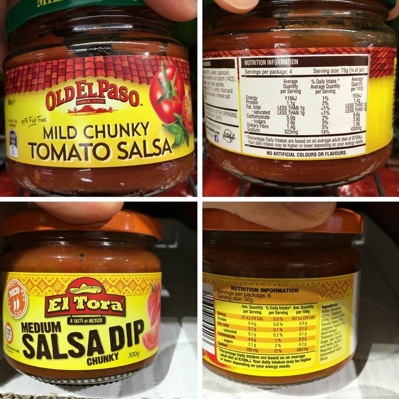 Old El Paso Salsa vs Aldi Salsa