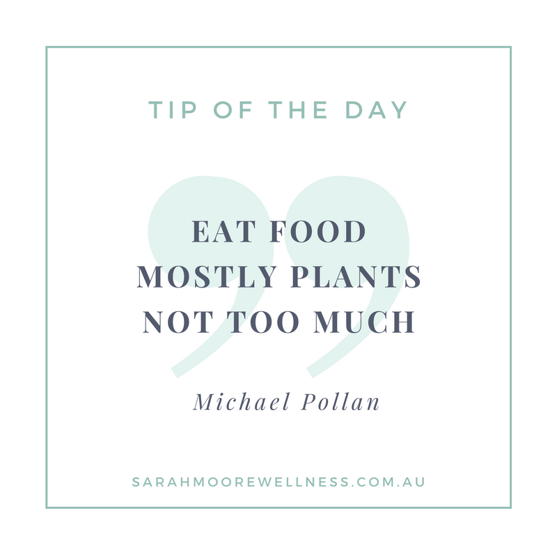 Sarah Moore Registered Nutritionist Perth Nutrition tip of the day weight loss diet