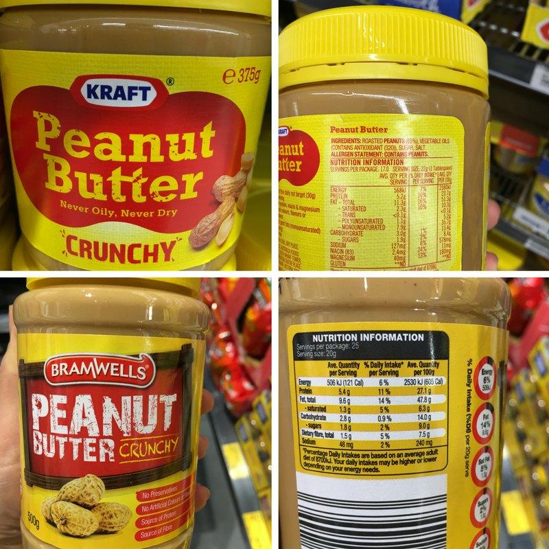Kraft Peanut Butter vs Aldi Peanut Butter