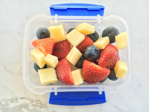 Fruit and Cheese Kids Snack On the Go