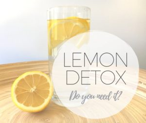 Perth Nutritionist Lemon Detox