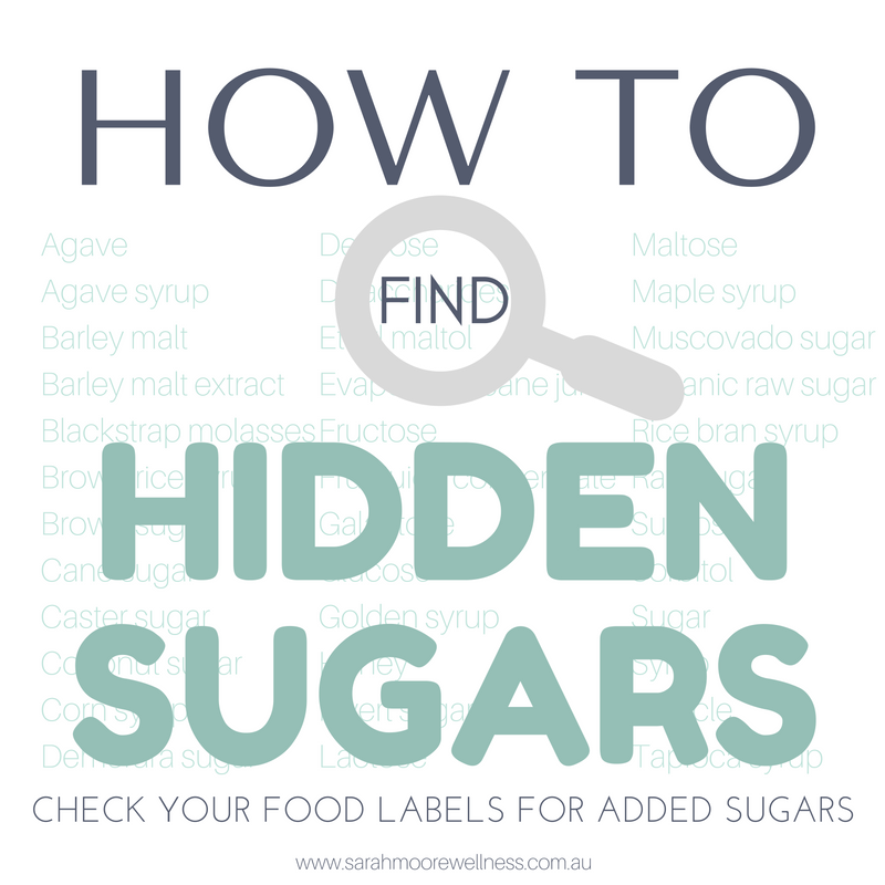 How to Find Hidden Sugars added sugar free sugar