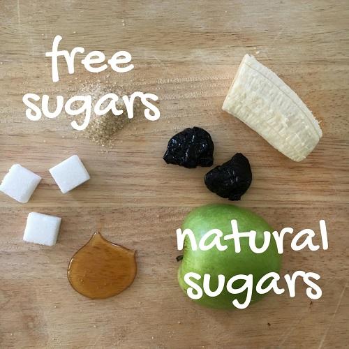 free sugars and natural sugars
