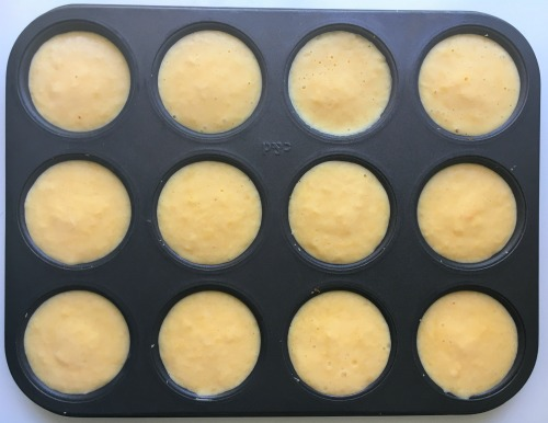 Frozen cheesecake bites in tin