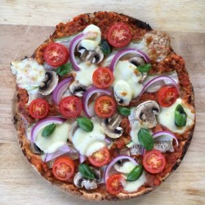 Home made vegetarian pizza