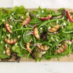 Grilled Peach, Green Bean and Almond Salad