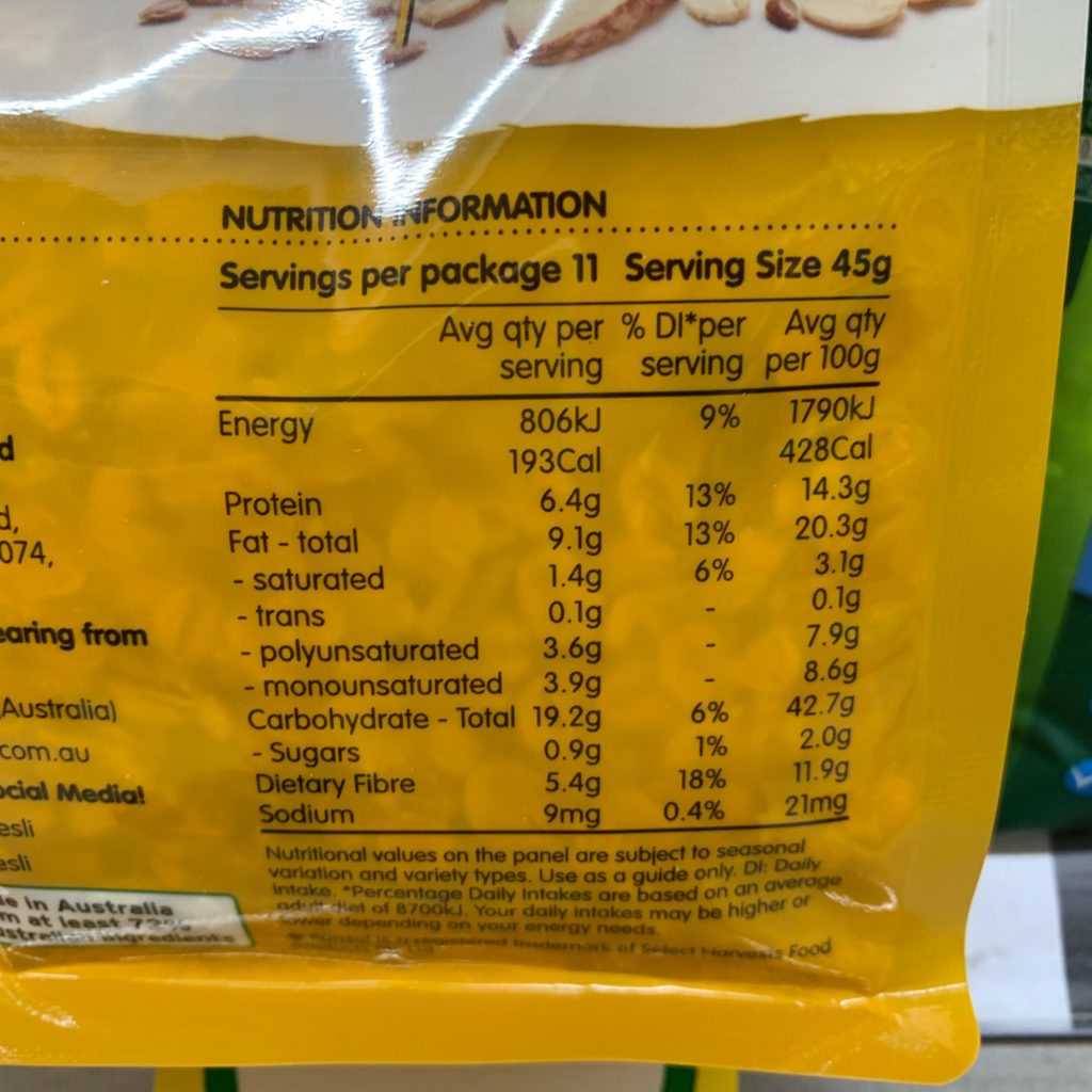 SunSol Nutrition Muesli Nutrition