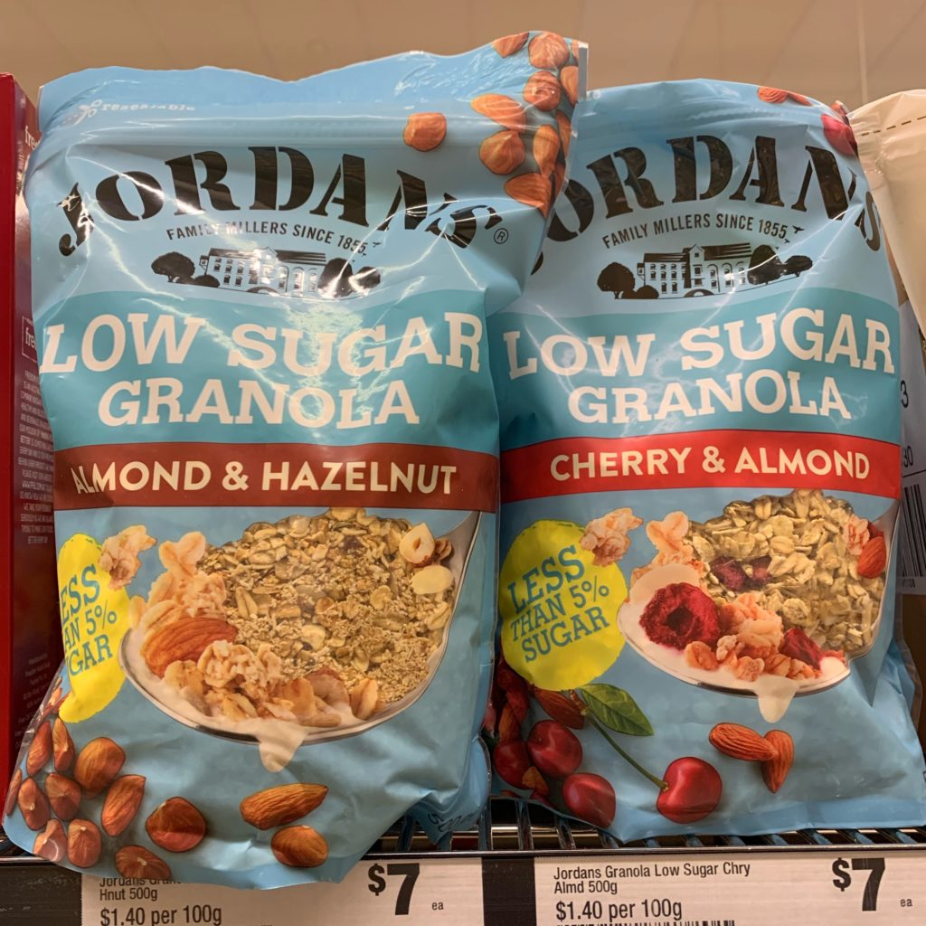 Jordans low sugar granola