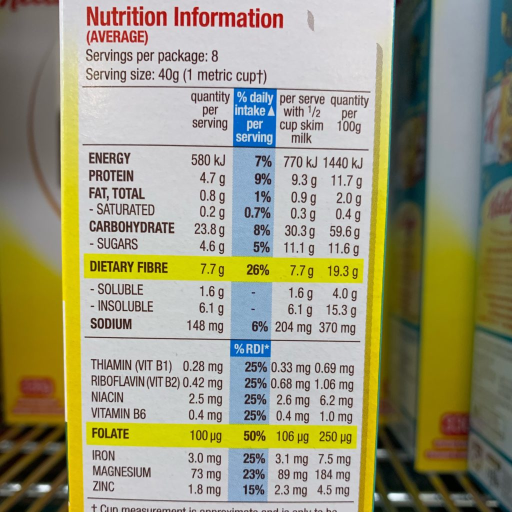 All Bran Wheat Flakes Nutrition
