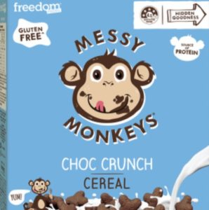 messy monkeys cereal