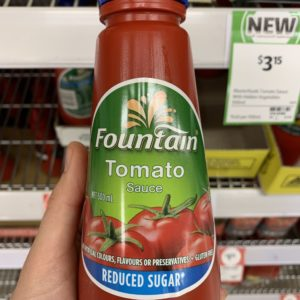 Fountain Tomato Sauce Reduced Sugar